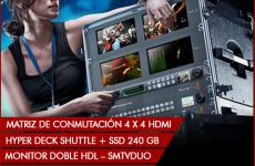 ATEM Production studio 4K black magic alquiler equipos audivisuales